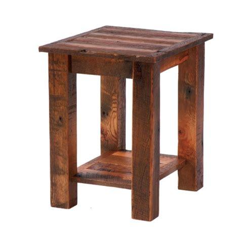 reclaimed barnwood wood end table fireside lodge barnwood coffee table