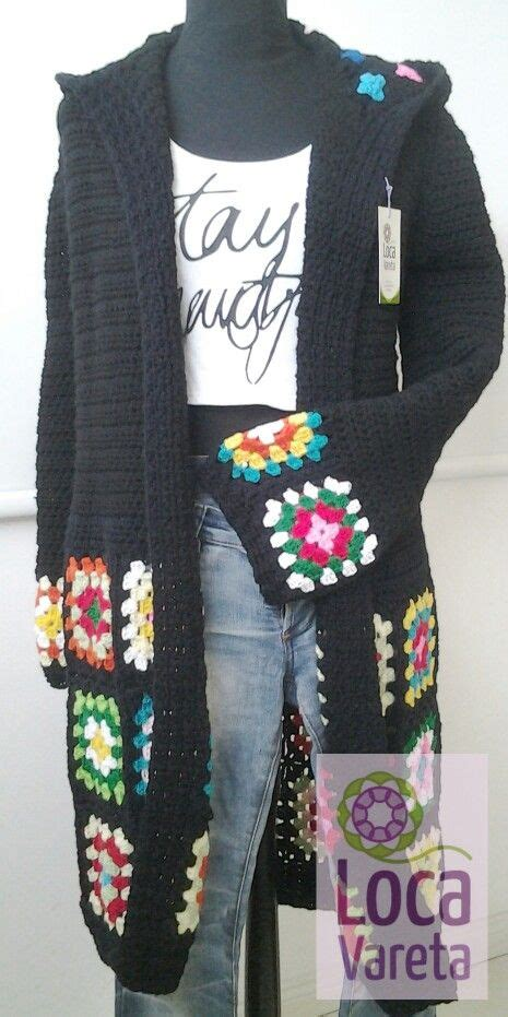 tapado tejido a crochet para mujer tapado de verano tapado largo tejido al crochet con capucha loca vareta