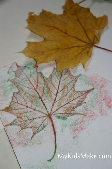 leaf craft projects fall leaf rubbings activities