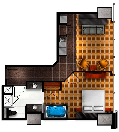 elara las vegas junior suite floor plan elara by hilton grand vacations