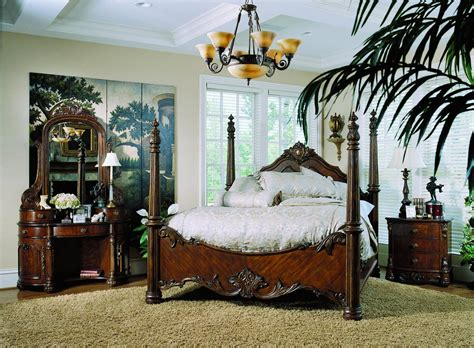 pulaski edwardian poster bedroom collection pf b242150 at