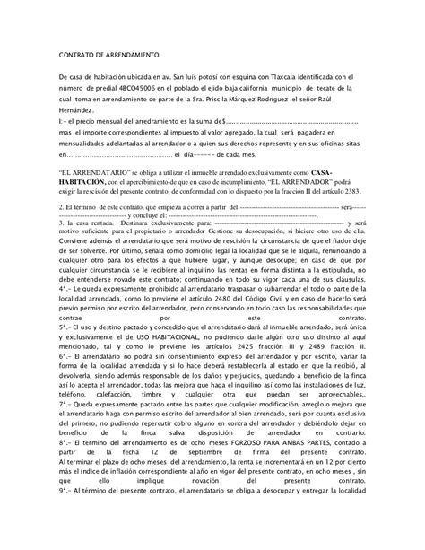 contrato de arrendamiento mexico contrato de arrendamiento machote tattoo design bild