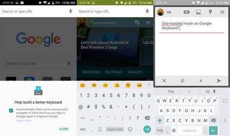 layout android google big google keyboard update brings one handed mode layout