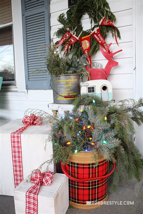 vintage christmas front porch decor eclectic vintage mini home tour robb restyle