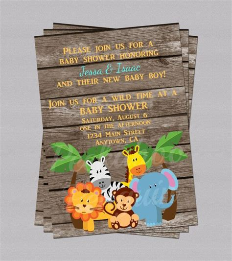 Baby Zoo Animals Baby Shower Decorations by Jungle Baby Shower Invites Zoo Animal Baby By
