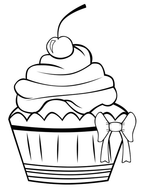 happy birthday cupcake coloring pages cute birthday drawings cliparts co