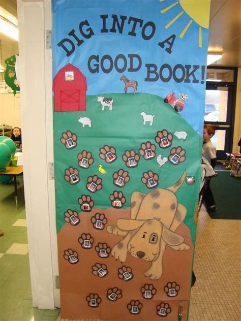 reading themes for elementary reading classroom doors classroom decorated their door
