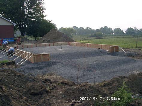 Garage Concrete Slab Design bavaya building shed on concrete slab