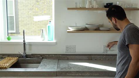 Concrete Countertop Backsplash Modern Ep120 Diy Concrete Backsplash