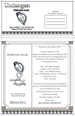 template undangan walimatul ursy doc download undangan gratis desain undangan pernikahan
