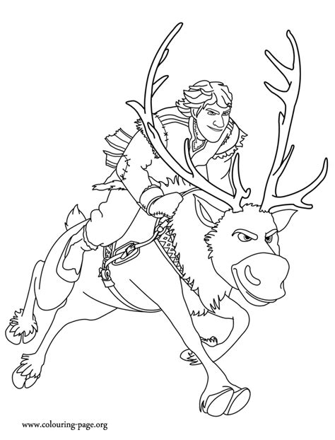 frozen kristoff coloring page free coloring pages of sven and kristoff frozen