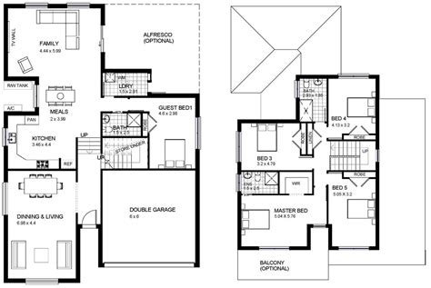 two storey house design with floor plan modern house