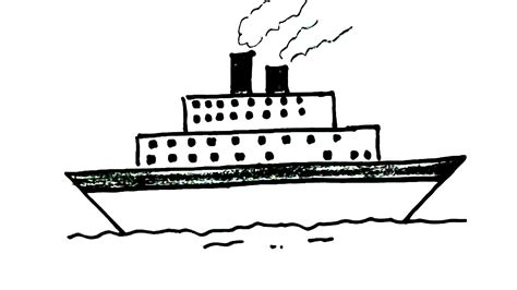 how to draw a navy boat how to draw a ship in easy steps for children kids