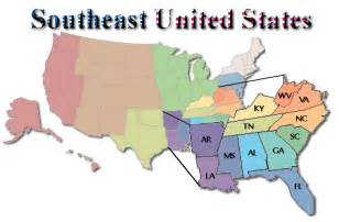 South East Usa Map by Southeastern United States Southeast U S