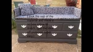 how to make a dresser bench