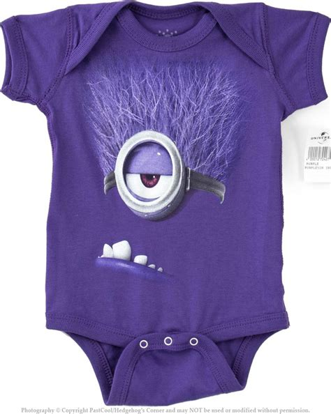 Authentic despicable me purple evil minion baby onesie new amp used clothing 4 sale online baby
