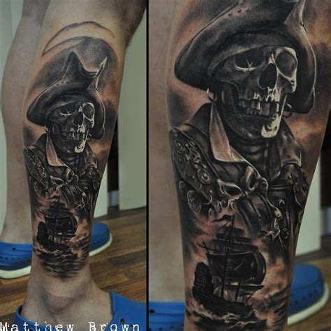 pirate sleeve tattoo designs skeleton pirate best ideas gallery