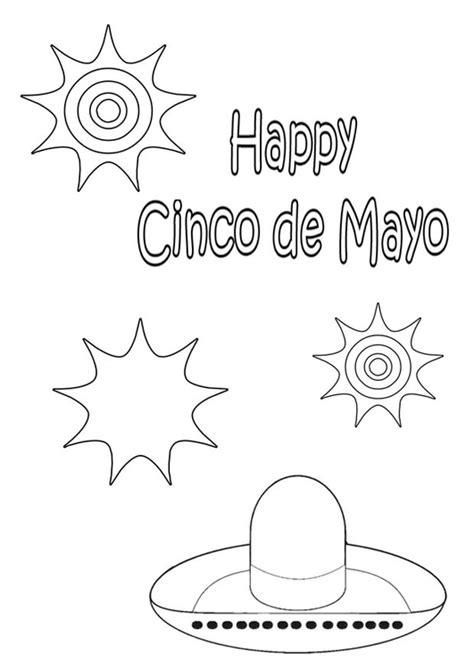 imagenes del 5 de mayo para colorear dibujo para colorear feliz cinco de mayo img 21983