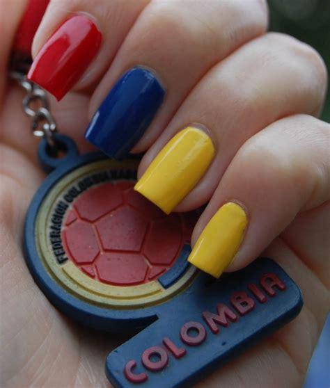 imagenes de uñas decoradas de colombia 2015 u 241 as decoradas con banderas u 209 as decoradas nail art