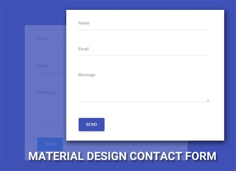 membuat web form cara membuat material design contact form di blog dunia
