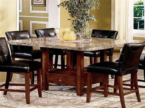 modern dining room sets granite top dining table storage