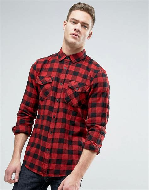 Checked Shirt pull regular fit checked shirt in in for