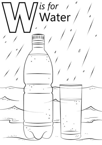 coloring pages for water free worksheets 187 printable letter w free math