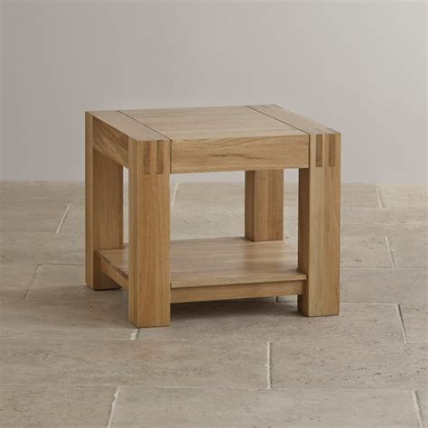 solid oak end alto side table in natural solid oak oak furniture land