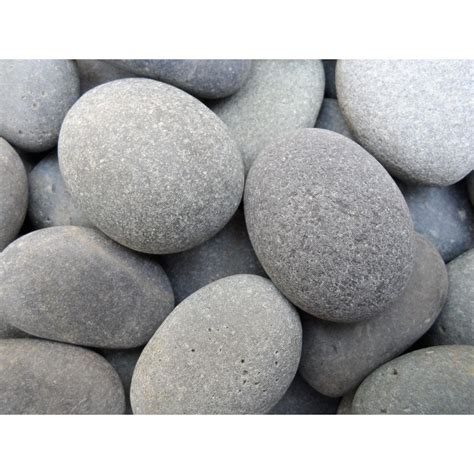 Plastic Garden Rocks Butler Arts 1 In To 2 In Black Mexican Pebble 2200 Lb Contractor Sack Bp Bk01