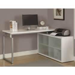 Desk Led Lights White L Shaped Desks Design All About House Design White