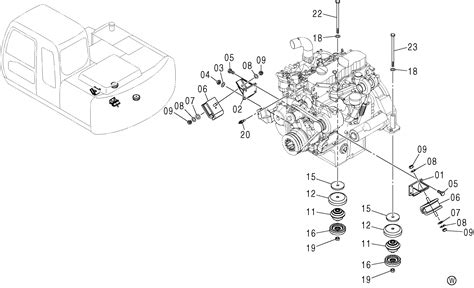 Sparepart Zx130 zx120 e engine support hitachi hop spare parts
