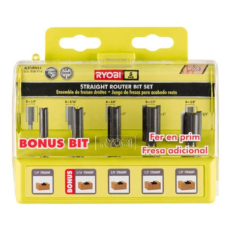 window stool router bit home depot ryobi router bit set 5 a25rs51 the home