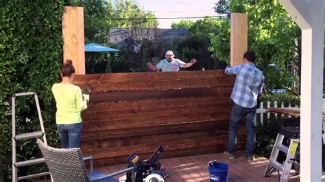 Lowes Home Plans by Diy Privacy Fence Lowe S Hypermade Youtube