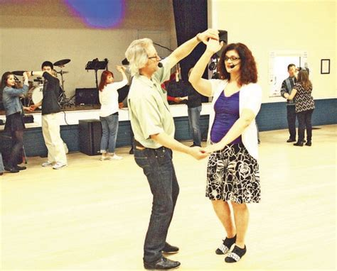 bainbridge swing dance visitors near and far dance away spring fever in