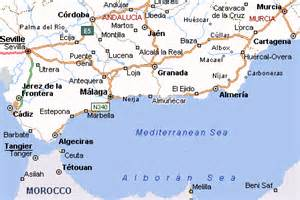 Map Of Southern Spain by Southern Spain Map Imsa Kolese