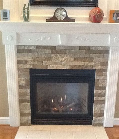 fireplace makeover wirh faux home improvement