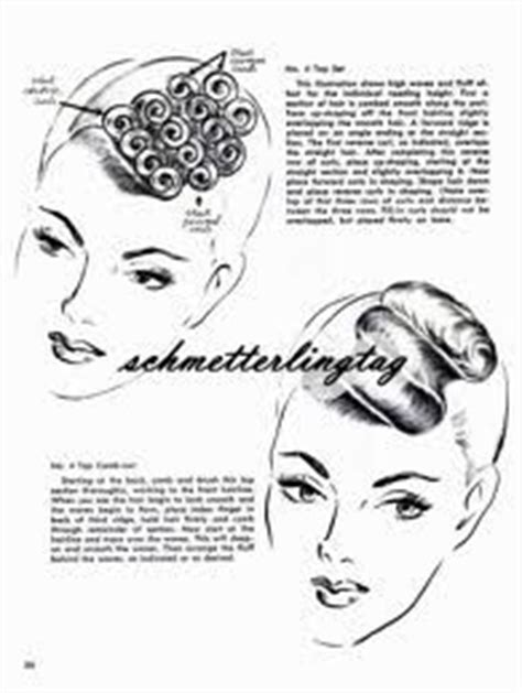 step by step how to do a 1940s updo haircut diagram for women s mid century haircuts vintage