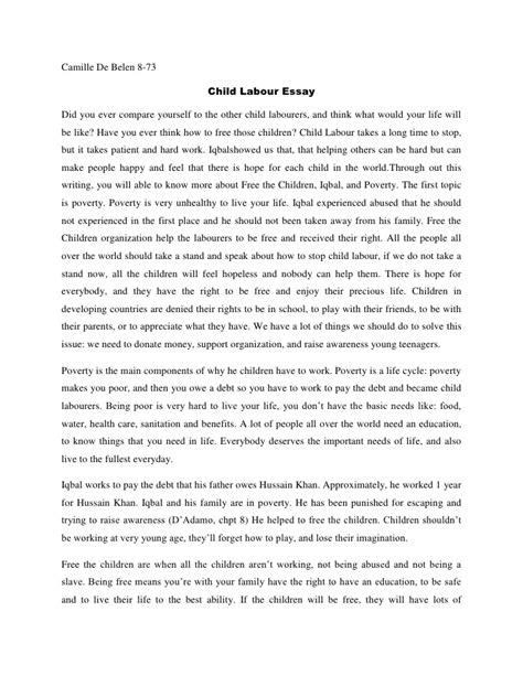 camille child labour essay
