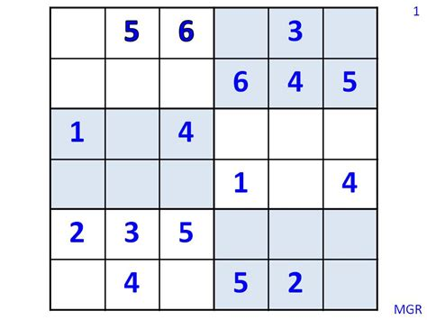 Printable Sudoku 6 X 6 | 6 x 6 sudoku printable pictures to pin on pinterest