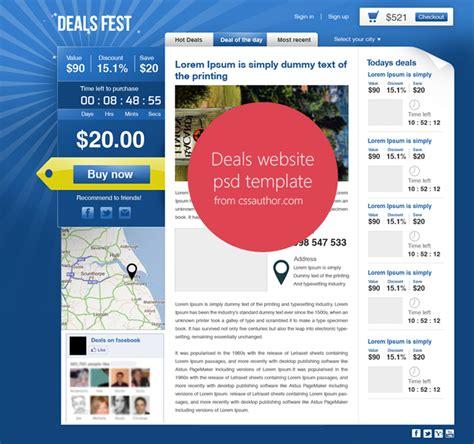 templates for deals website premium beautiful deals website psd template for free