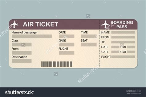 boarding pass template free airline tickets images search