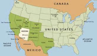 arizona usa map tucson arizona usa map