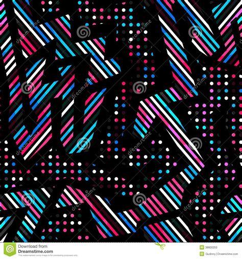 geometric neon pattern retro neon geometric seamless pattern stock vector image