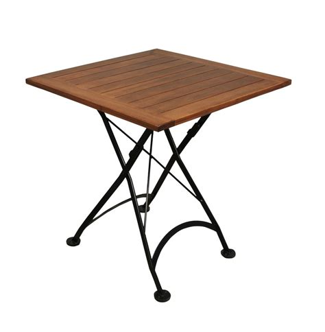 Folding Cafe Table by Furniture Designhouse 4113cw Bk Handcrafted