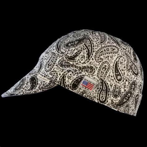 welding bandana pattern black white perfect paisley welding hat welding hats