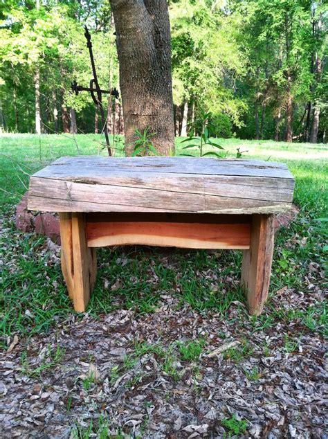 rustic cedar benches rustic cedar bench sold rustic pinterest