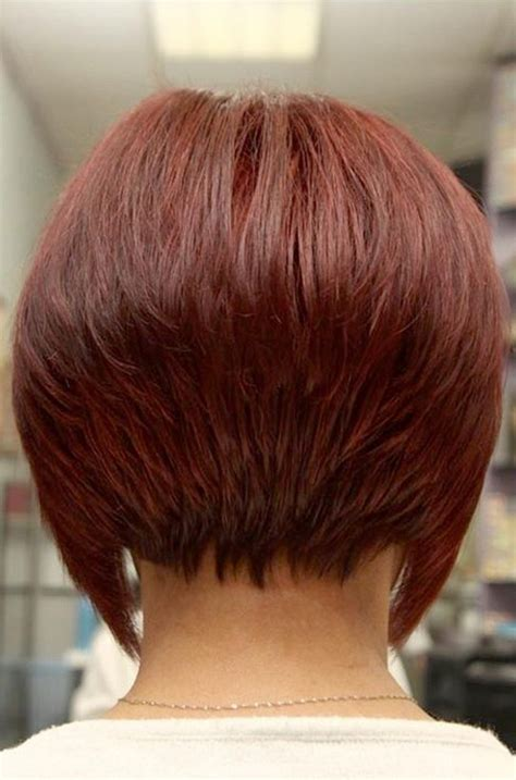 hairstyles inverted bob back view back view of red inverted bob hairstyle styles weekly