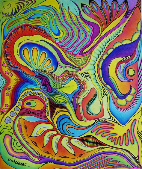 markers and colored pencils 17 quot x14 quot colored pencil and marker abstract drawing