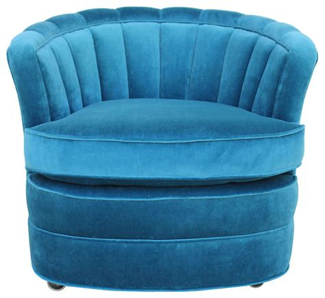 Teal Velvet Accent Chair Teal Velvet Barrel Chair Contemporary Armchairs And Accent Chairs