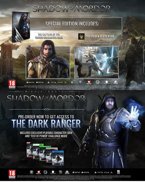 Xbox One Shadow Of Mordor Special Edition middle earth shadow of mordor special edition
